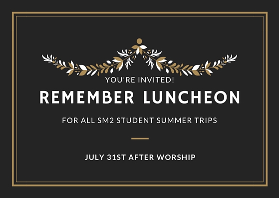 Remember Luncheon 2016