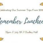 Remember Luncheon